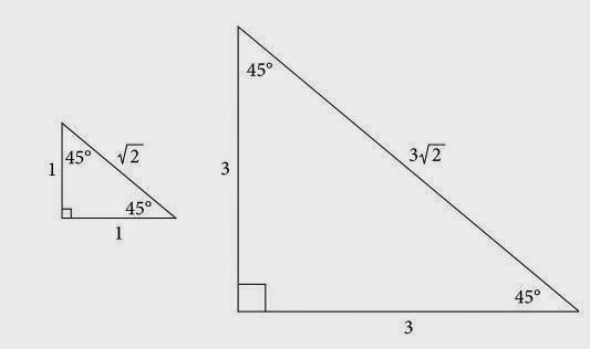 GRE Math: 45°-45°-90° and 30°-60°-90° Right Triangles